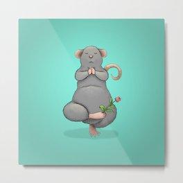 Yoga Rat, Day 7 Metal Print