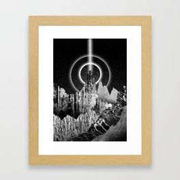 Light beam peak Framed Art Print