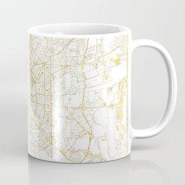 Milan Map Gold Coffee Mug