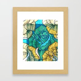Digitally edited Painting 'Rose Tattoo' 2 Framed Art Print