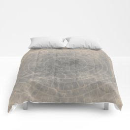 Geometric Art, cercles and lines with a gradient grunge background Comforters