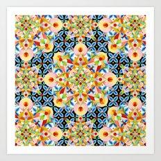 Elizabethan Pastel Mandala Art Print