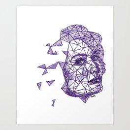 Queenie Goldstein Fracture Drawing Art Print