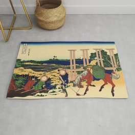 Katsushika Hokusai's Senju, Musashi But Rug