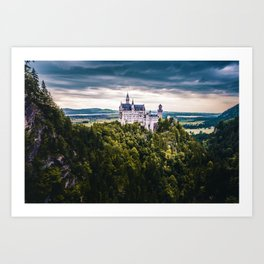 Castle on the Hill (Color) Art Print