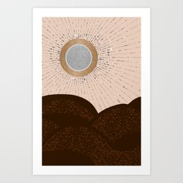 Rays of Love - Silver Bronze Art Print