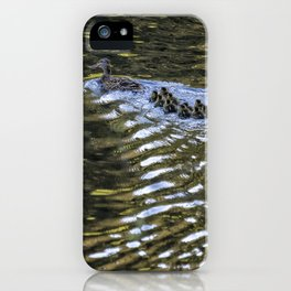 Ten Little Mallards and Mama iPhone Case