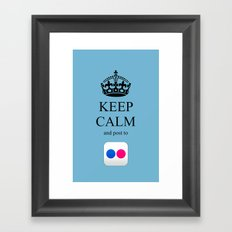 KEEP CALM Flickr Framed Art Print