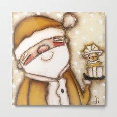 Yellow Santa - by Diane Duda Metal Print