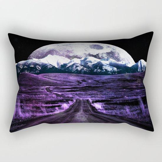 Highway to Eternity (moon mountain) violet Rectangular Pillow