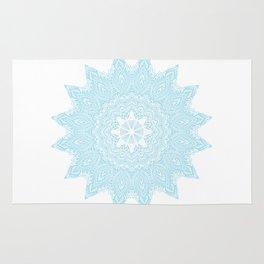 Moonlight Blue Mandala Bohemian Decor Medallion Rug