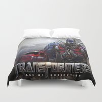 transformers Duvet Covers featuring transformers  , transformers  games, transformers  blanket, transformers  duvet cover by ira gora