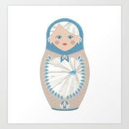 matryoshka, russian doll, nesting dolls, babushka, gift Art Print