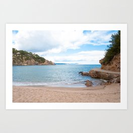 Summer landscapes around Costa Brava, impressive beachs and coastlines. Art Print