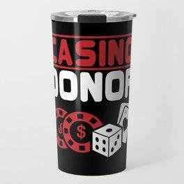 Casino Donor Gambling Poker Player Gift Travel Mug
