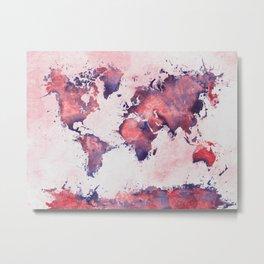 world map 127 #worldmap #map Metal Print