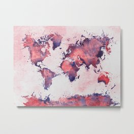 world map 127 #worldmap #map Metal Print