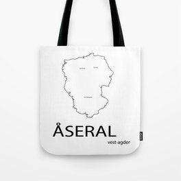 map of åseral Tote Bag