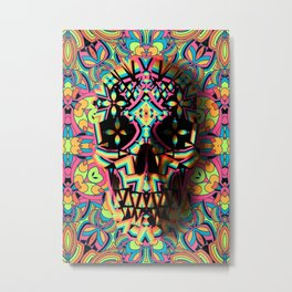 Fancy Skull Metal Print