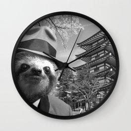 Sloth in Japan Wall Clock