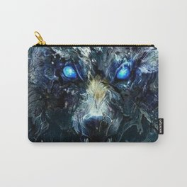 Abstract Wolf Design Carry-All Pouch