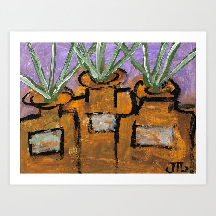 """Plant Jars"" Art Print"