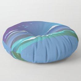 Mont Taranaki From The Sea Floor Pillow