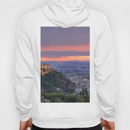 The alhambra and Granada city at sunset Hoody