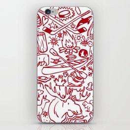 Maple Leaf - red iPhone Skin