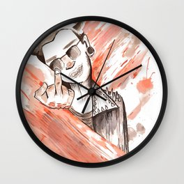Graphic Styled Punk Wall Clock