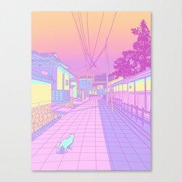 Kyoto Cats Canvas Print