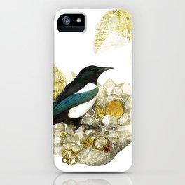 Magpie and Rutilated Quartz iPhone Case