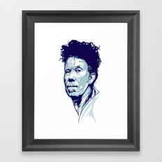 Tom Waits Portrait Framed Art Print