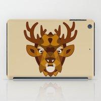 reindeer iPad Cases featuring REINDEER by toprock