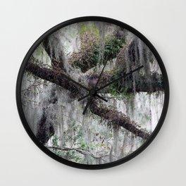 Spanish Moss on a Tree Limb Wall Clock