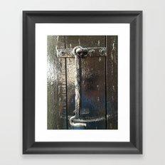 Iron Gate latch,  Framed Art Print