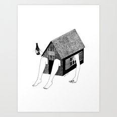 Sunday Chilling Art Print