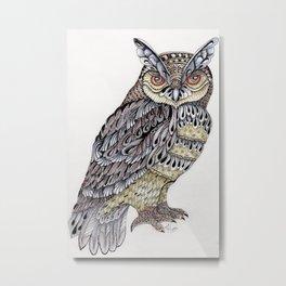 Owl Majestic Metal Print