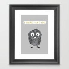 I think I like you Framed Art Print