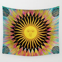 Psychedelic Sun Star Hippie Bohemian Festival Spiritual Zen Yoga Mantra Meditation Wall Tapestry