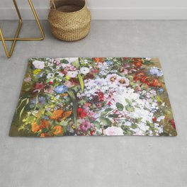 Spring riot of flowers - Courbet inspired Rug