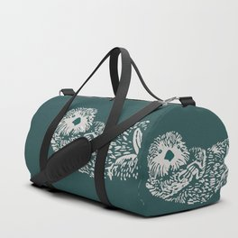 The handsome sea otter Duffle Bag