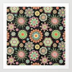 Folky Flora Art Print