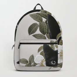 Cat With Flowers Backpack