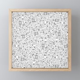 All Tech Line / Highly detailed computer circuit board pattern Framed Mini Art Print