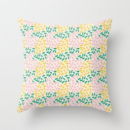 Field of lines in pastel Throw Pillow