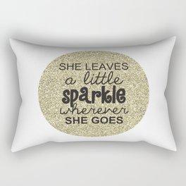 She Sparkles Rectangular Pillow