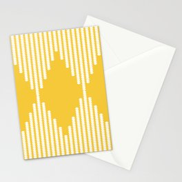 Moon Phases Pattern in Mustard Yellow Stationery Cards