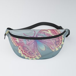 Unique Butterfly Bamboo leaves Pattern Fanny Pack