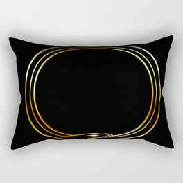The symbol of Ouroboros snake in gold colors Rectangular Pillow